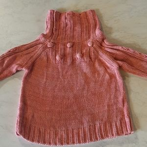 Size 2 pink knitted style jumper with turtle neck